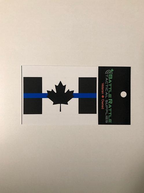Thin Blue Line Canada Flag Sticker