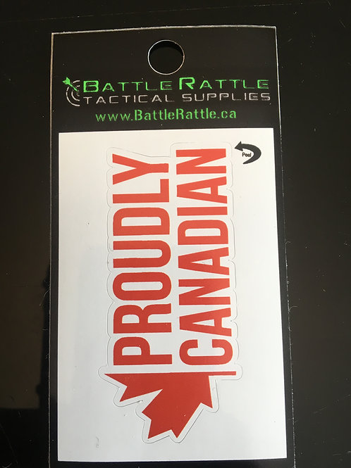 Proudly Canadian Sticker
