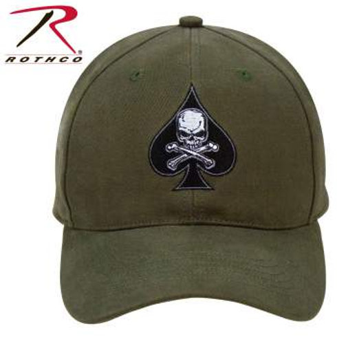 Rothco Black Ink Death Spade Low Profile Insignia Cap