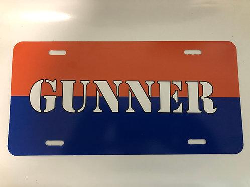 Gunner License Plate