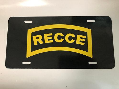 Recce License Plate