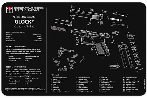 Tactical Innovations Glock 42-43 Pistol Cleaning Mat