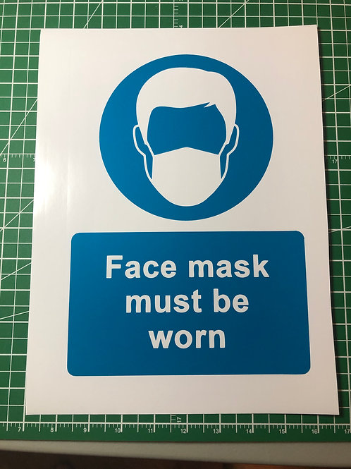 Face Mask Social Distancing Signage