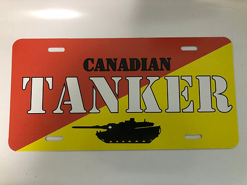 Canadian Tanker License Plate