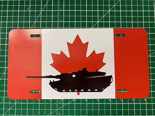 Canadian Flag w/Tank License Plate