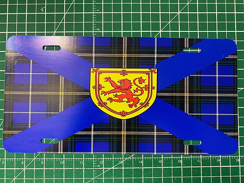 Nova Scotia Tartan License Plate