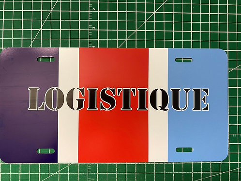Logistique License Plate (French)