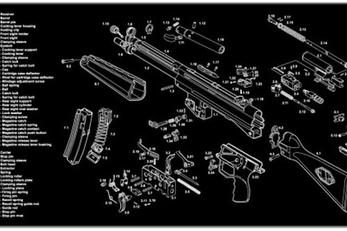Tactical Innovations MP5 Rifle Cleaning Mat