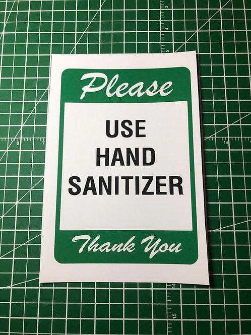 Hand Sanitizer Social Distancing Signage