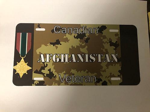 Afghanistan Veteran License Plate
