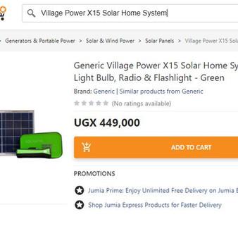 Village Power's X15 Now On Jumia!