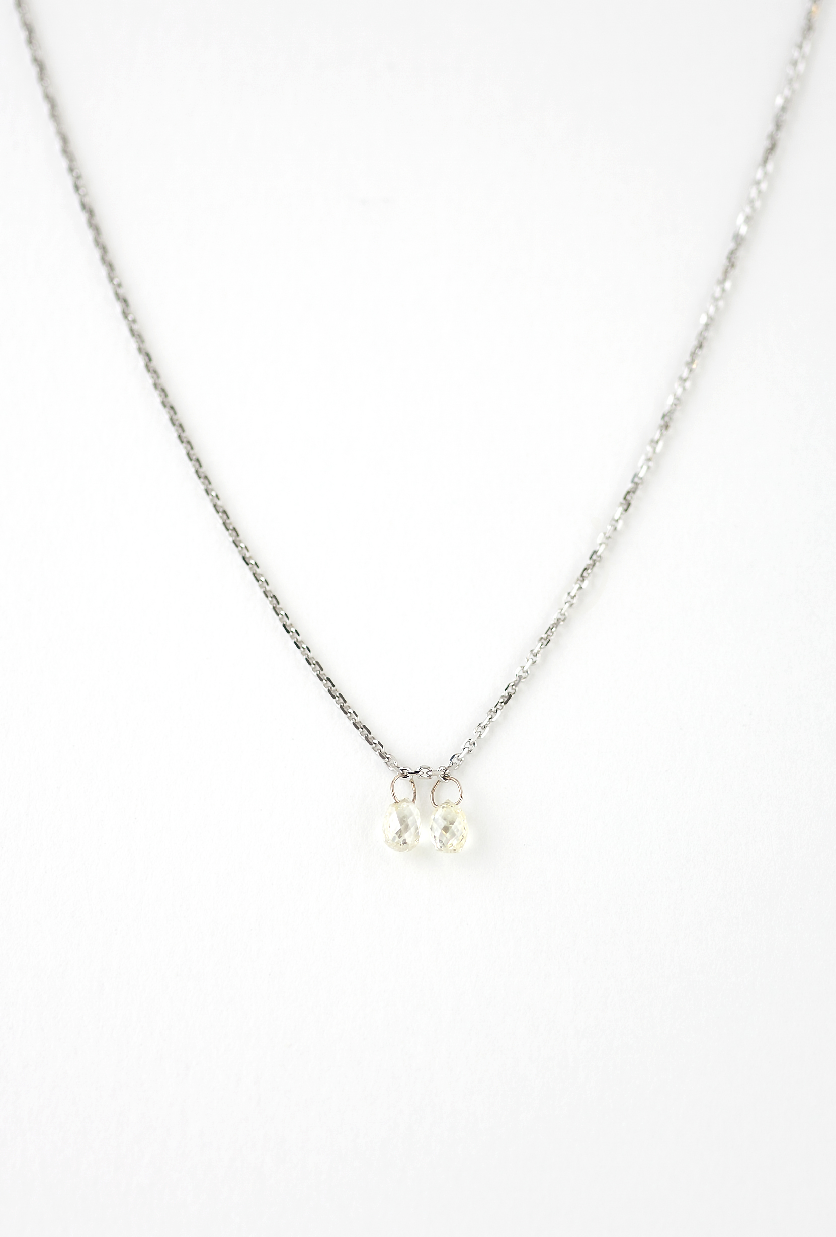 Natural Canary diamond pendent