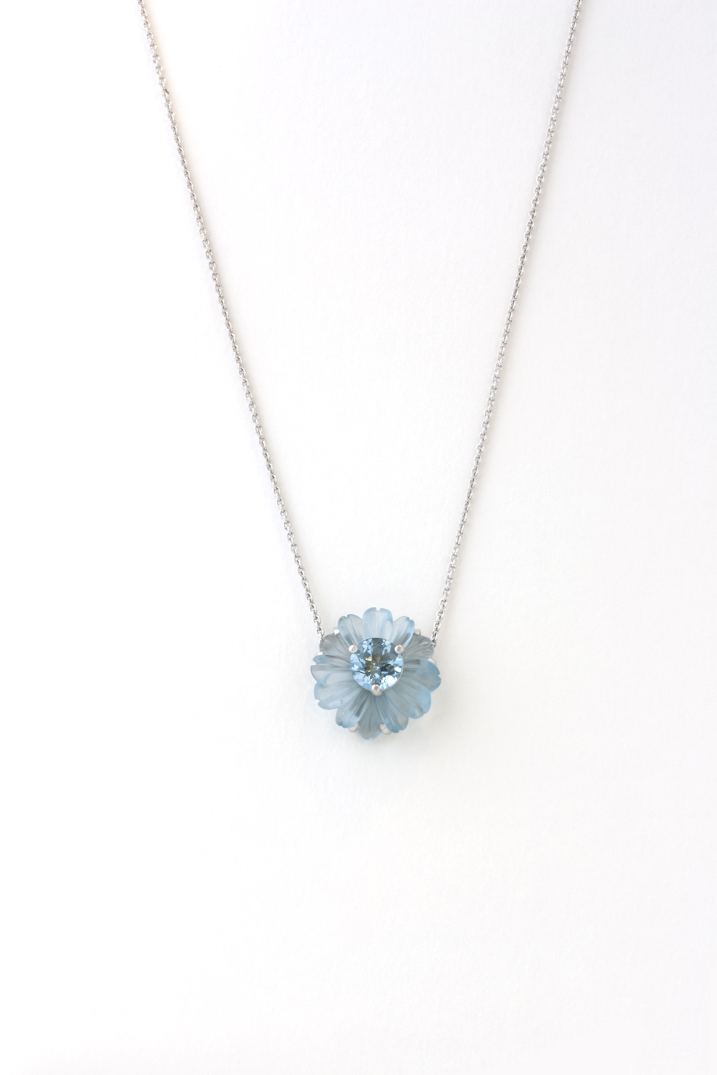 Aquamarine and Blue topaz pendent