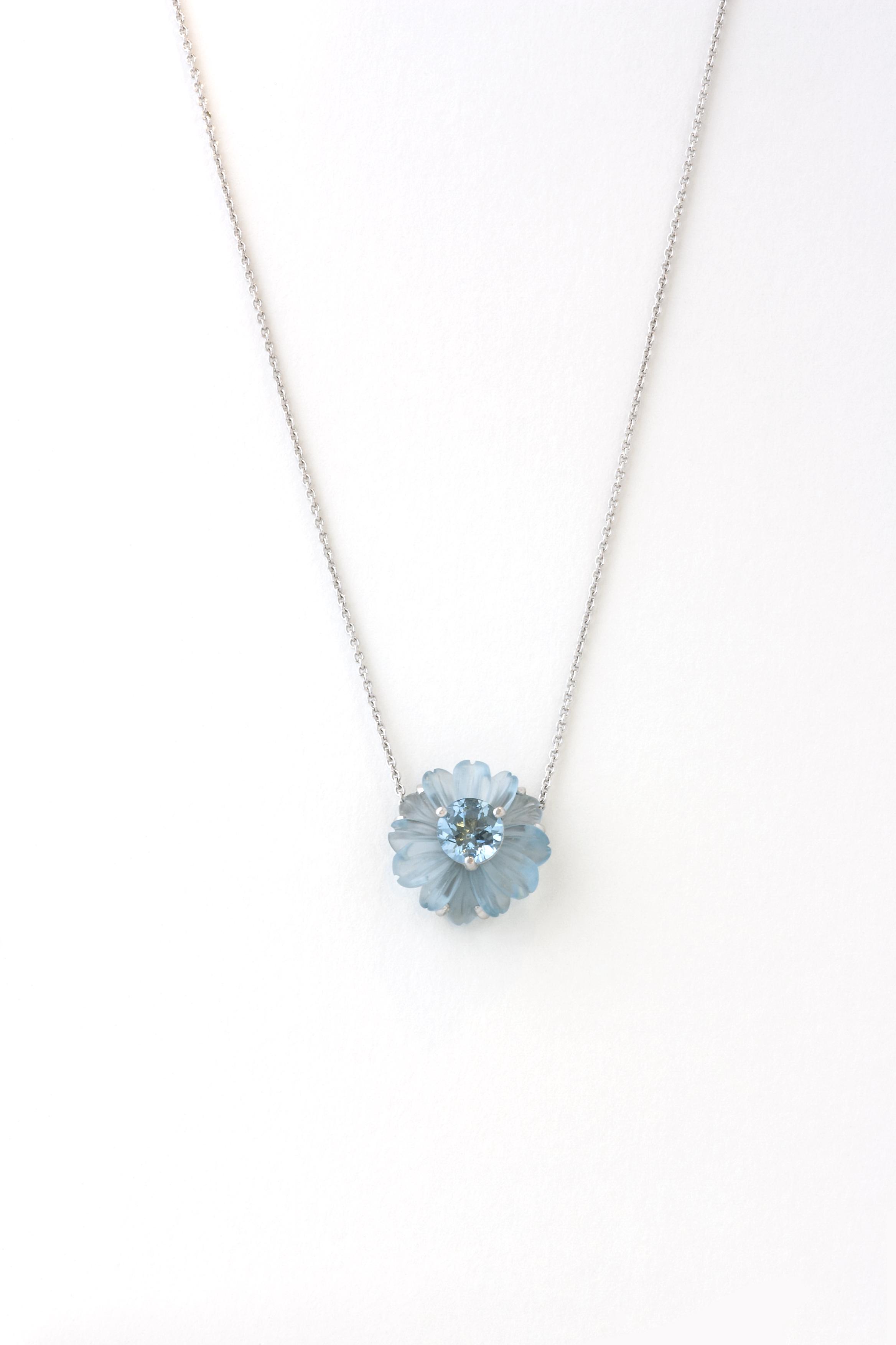 Aquamarine and Blue topaz pendent