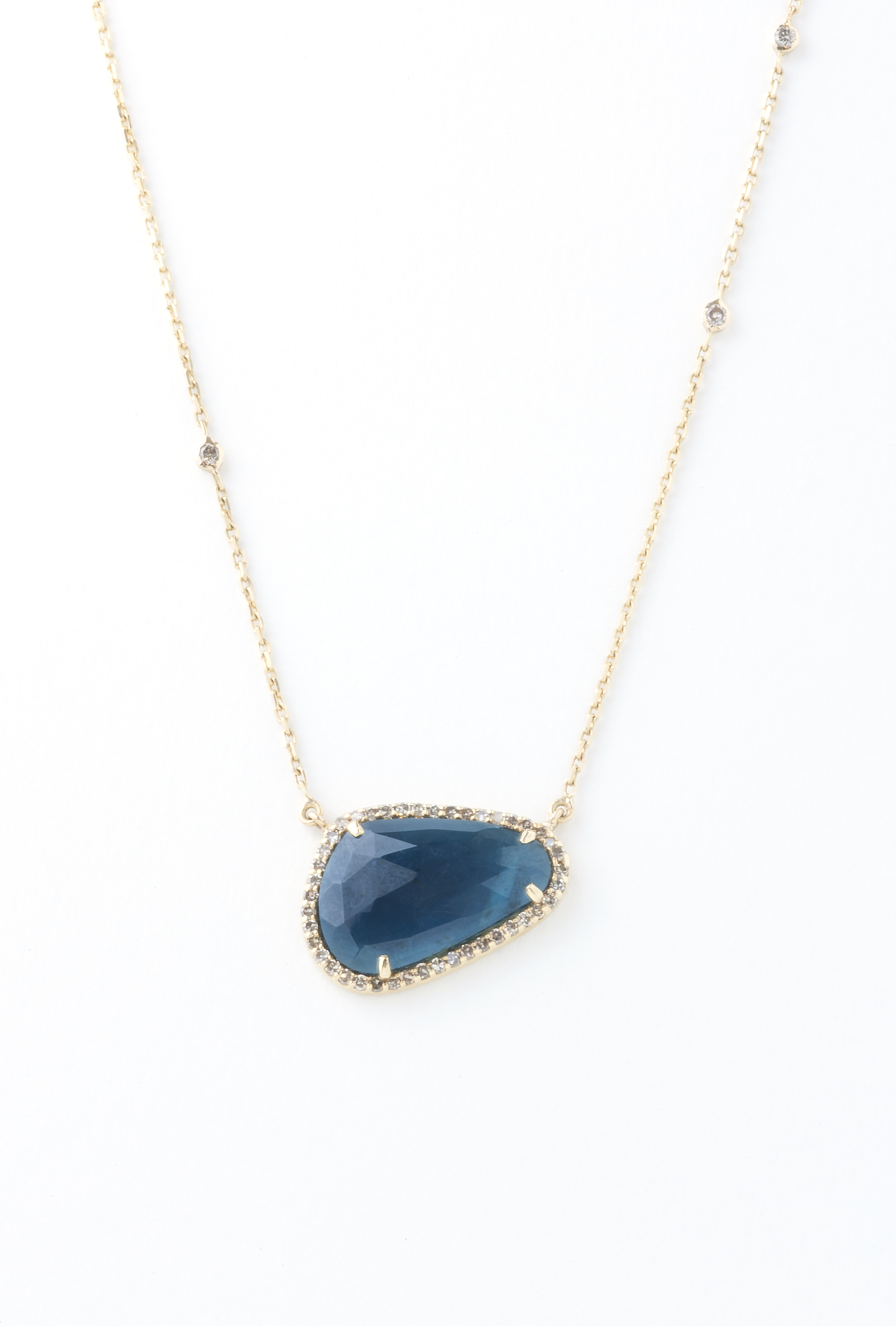 Turmaline and Diamond pendent