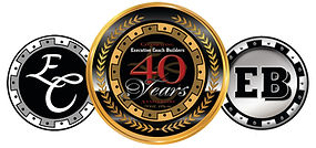 Executive Coach Builders/Executive Bus Builders 40 Year Anniversary Logo