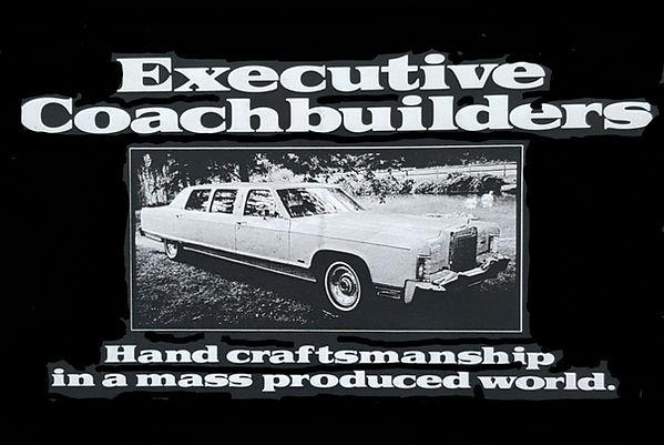 Original Executive Coachbuilders Advetisement featuring a Lincoln Executive 540 Limousine