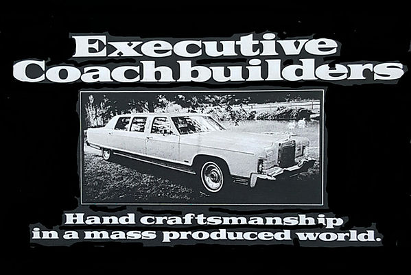 Original Executive Coachbuilders Advetisement featuring a Lincoln Executive 540 Limousine