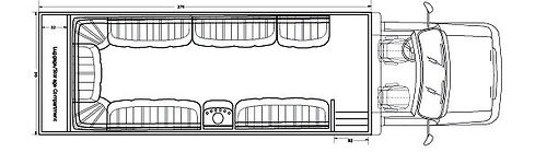 "25-31 passenger seating capacity Two 55"" Smart TV, 10 USB"