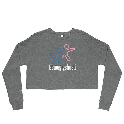 Crop Sweatshirt mit Logo