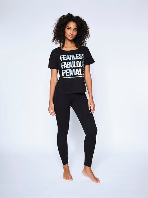 FEARLESS FABULOUS FEMALE PJ SET