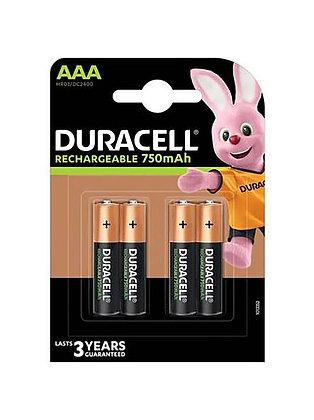 AAAx4 - 1300mah DURACELL RECHARGABLE BATTERIES
