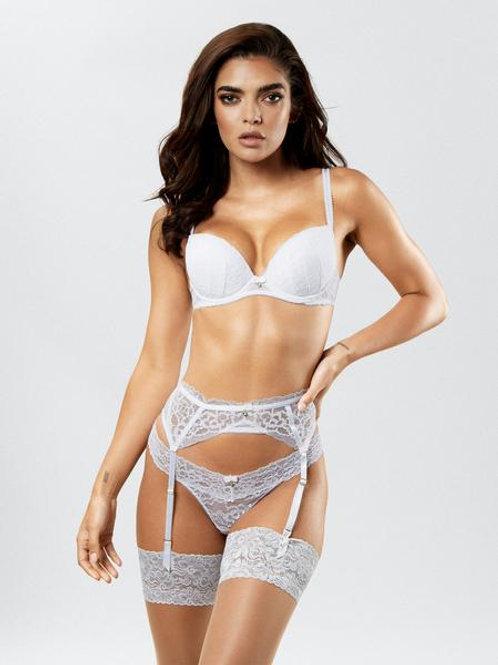 SEXY LACE PLUNGE BRA - White