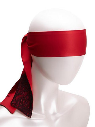 SATIN AND LACE TIE - Red/Black