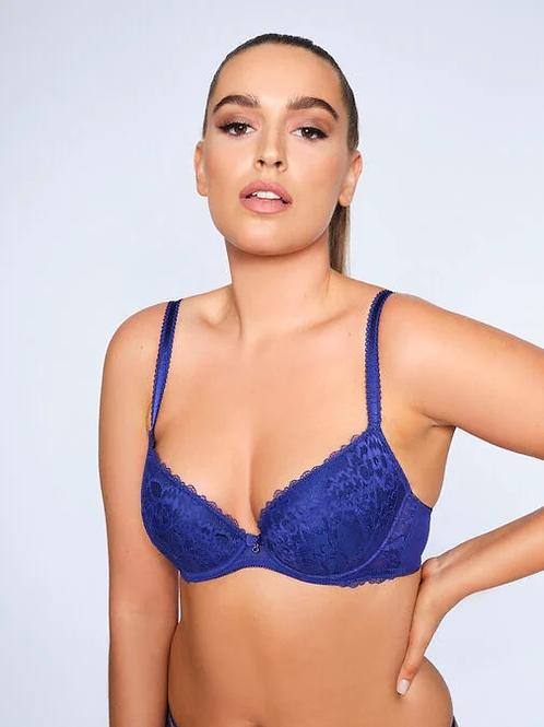 SEXY LACE PLUNGE BRA - Purple