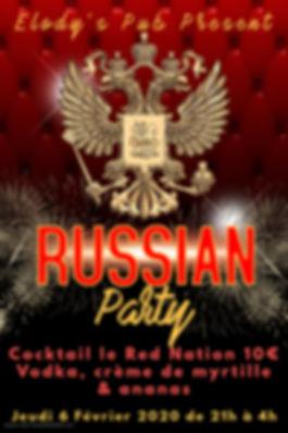 Copie de Russian Party Flyer Template -