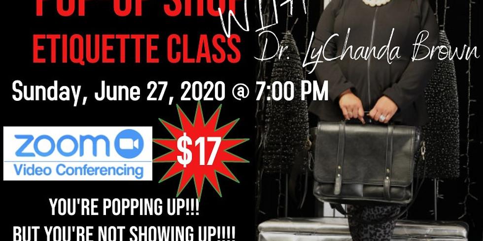 Pop Up Shop Etiquette Class