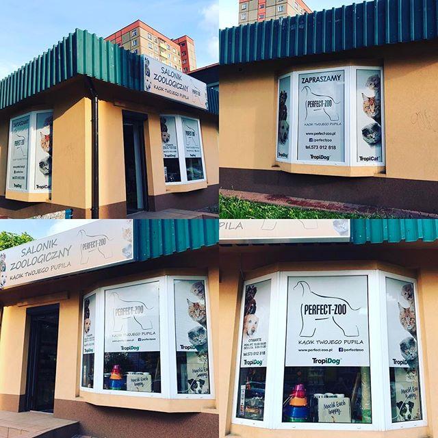 Przedstawiamy zdjęcia z realizacji oklejenia witryn sklepowych folią OWV w Dąbrowie Górniczej dla na