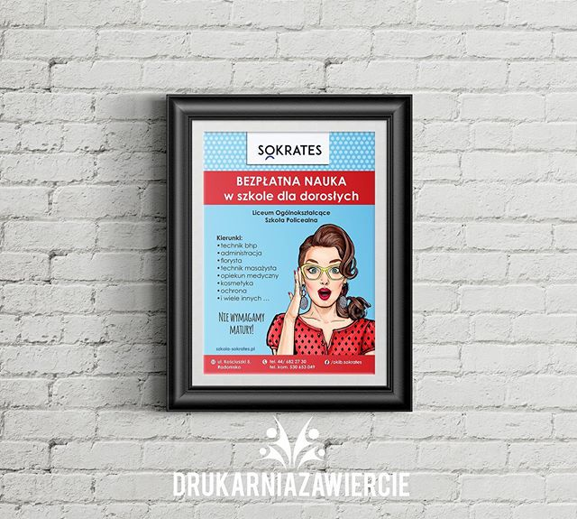 #plakaty #plakat #sokrates #drukarnia #s