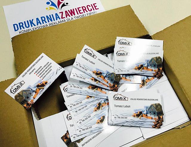 Zamów wizytówki dla swojej firmy ! #drukarnia #wizytówki #reklama #firma #promocja #zawiercie #polig