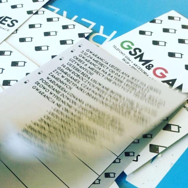 Karty gwarancyjne - składane dla stałego Klienta 👌👌