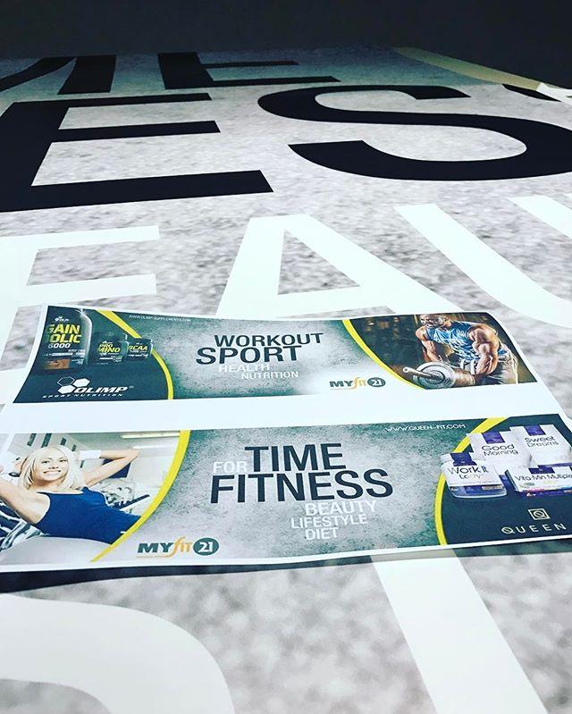 Wielkie fototapety dla Olimp - Supplements oraz Queen Fit gotowe już wkrótce przykleimy je w siłowni