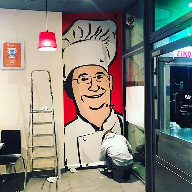 Felix Chicken Kraków - nowa tapeta zrobiła dobra robote ! #felixchicken #kraków #fototapeta #pieknew