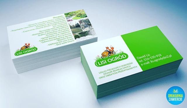 #profesjonalnewizytówki #drukujemy #wysyłamy #wizytówki #ogrodnik #lisek #lis #ogród