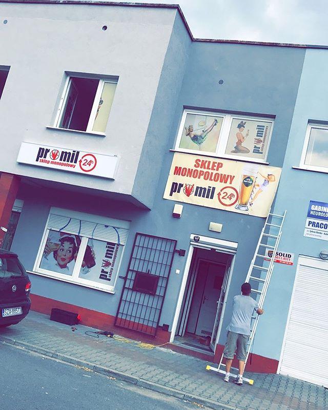 #montażreklam #drukarnia #kasetony #folieowv #banery #projekt #prl #monopol #alkohol #promil