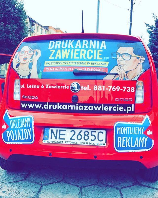 #montujemyreklamy #oklejamypojazdy #reklama #drukarnia #skoda #skodacitygo #citygo #car #business #p