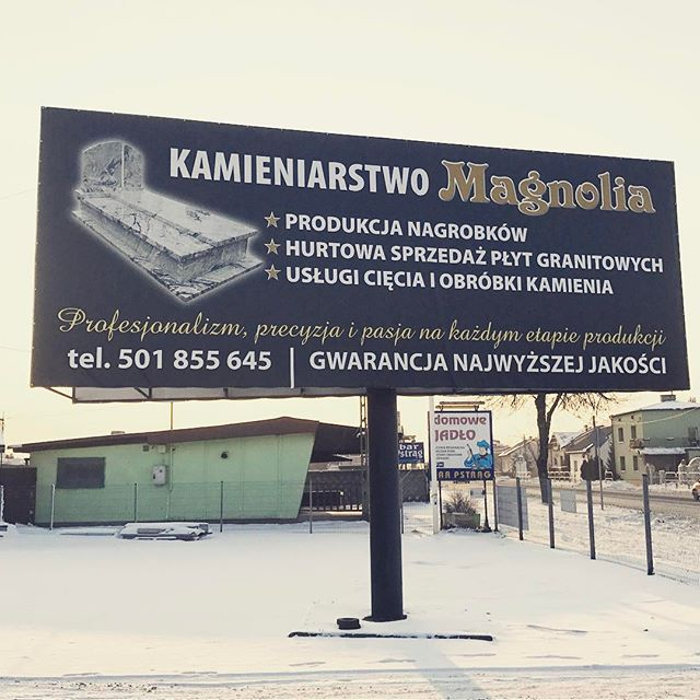 Dla firmy Group Magnolia wydrukowaliśmy banner reklamowy powlekany