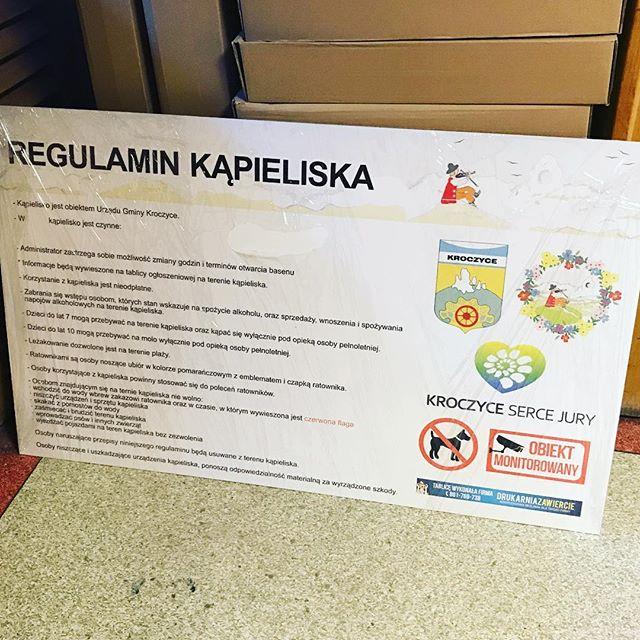Regulamin kąpieliska na twardym dibondzie 👌#drukarnia #reklamy #wizytowka #biznes #firma #kolory #p