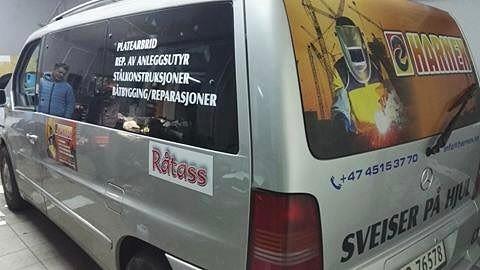 Mercedes z Norwegii oklejony w naszej firmie _)_#oklejaniesamochodow #oklejaniepojazdów #reklamanasa