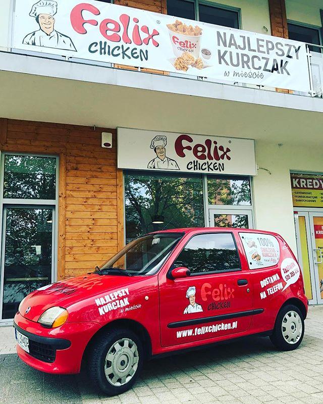 Realizacja oklejenia pojazdu dla #felixchickenzawiercie - od dziś najlepszy kurczak w mieście równie