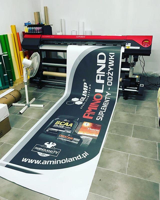 #profesjonalnewydruki #drukarniazawiercie #aminoland #odżywki #sport #drukujedlawas #flaga