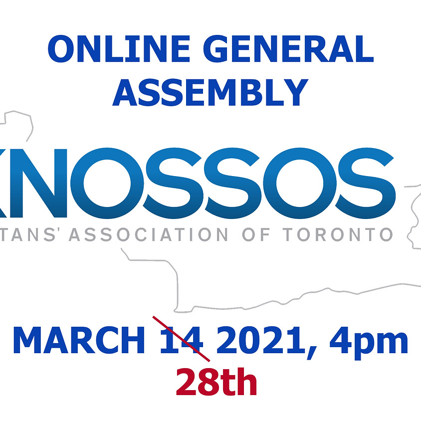 General Assembly Rescheduled