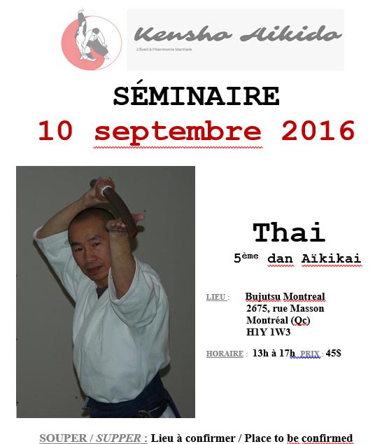 Séminaire d'aikido avec Thai