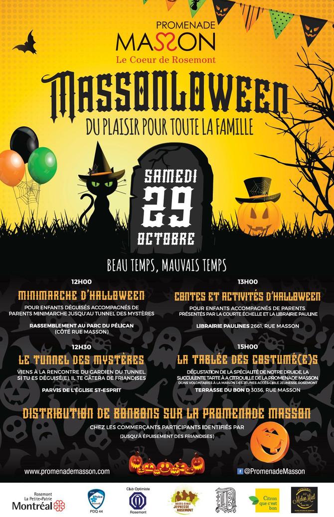 Halloween sur la Promenade Masson