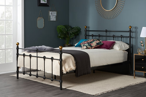 Atlas Black Metal Bed 120cm Small Double (4ft)
