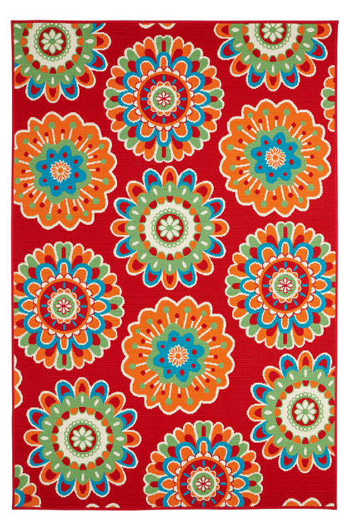 Siena Indoor/Outdoor Rug 8321 Red 160cm x 230cm